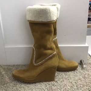 Gucci Knee-High Suede Boots